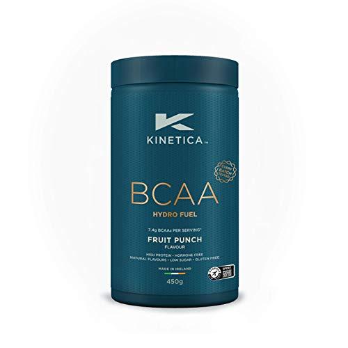 Kinetica BCAA Hydrofuel Powder, Fruit Punch, 450g, Blend 4:1:1 (Leucine, Isoleucine, Valine) 7.4g BCAA's