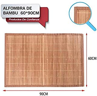 LEYENDAS Alfombra Antideslizante de Bambu,Alfombrilla de