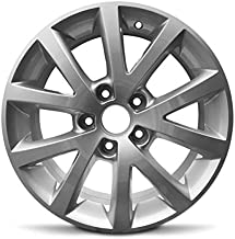 Road Ready Car Wheel For 2010-2016 Volkswagen Jetta 16 Inch 5 Lug Gray Aluminum Rim Fits R16 Tire - Exact OEM Replacement - Full-Size Spare