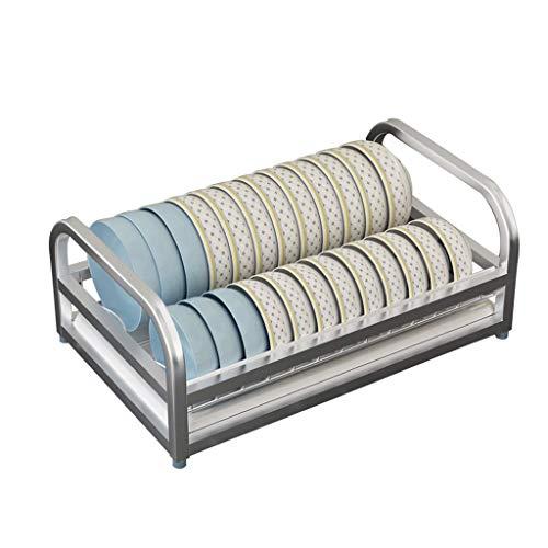 Einschichtiger Geschirrtrockner aus Edelstahl mit abnehmbarer Tropfablaufplatte, Aufbewahrungsbehälter für Küchengeschirrabläufe