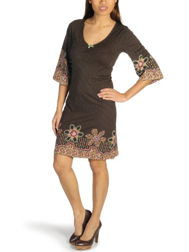 Vive Maria Original San Francisco Flower Dress Farbe Coffee Größe M