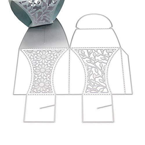 Baiyao Stanzschablonen,Blumenkasten Schneidwerkzeuge Schablone DIY Scrapbooking Album Stempel Papierkarte Prägung Dekor Handwerk