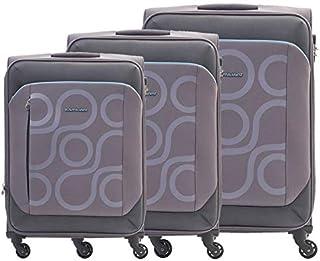 كاميليانت حقائب سفر بعجلات للجنسين 3 قطع - رمادي