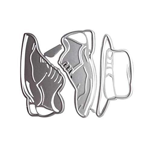 TankMR Metalen Snijmatrijzen, Embossing Stencil Sjabloon voor DIY Scrapbook Album Papier Kaart Kunst Craft Decoratie, Bloem, Schoenen Sneakers Hoed
