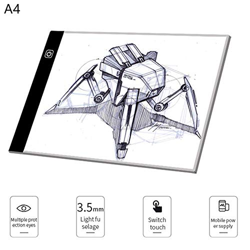 DUBAOBAO Children's Educational Writing Graffiti Board Drawing Board Toy, LED Panel Light with USB Cable, Adjustable Brightness Technology to Protect Eyesight, Painting, Drawing, Animation