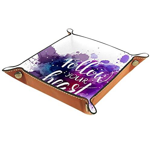 Cerezas y caja de regalo de cuero Catchall para Jewlery Key Cosmetics Glasses Auriculares-Oficina/Uso en el hogar