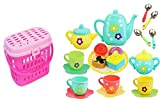 PLUSPOINT Tea Set Tea Party Pretend Playset for Kids, Teapot Play Set Pretend