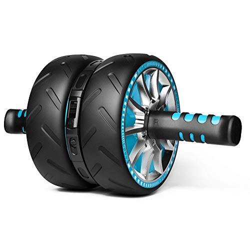 Huanxin Bauchtrainer, Elektronische Zählung Ab Roller Radkern Ab Workout Abdominal- Rad-Maschine, Automatische Bildschirm Löschen, Track-Real-Time Sports Daten,a