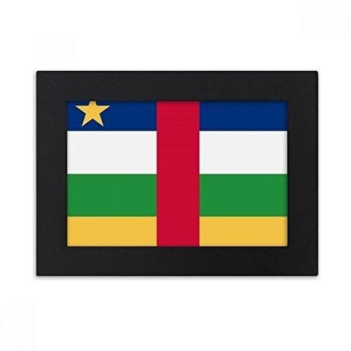 DIYthinker Zentralafrikanische Republik National Flagge Afrika Land Desktop-Foto-Rahmen-Schwarz Bild-Kunst-Malerei Passt 10.2 x 15.2cm (4 x 6 Zoll) Bild Mehrfarbig