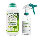 Happyzym Enzymreiniger Geruchsentferner und Fleckenentferner gegen Katzenurin, Hundeurin und Tiergerüche für Haushalt, Gewerbe - 1 Liter Konzentrat