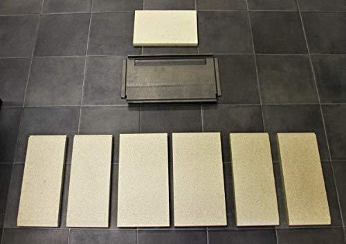 Feuerraumauskleidung für Heta Scan-Line 16 Kaminöfen - Vermiculite und Schamotte - 8-teilig