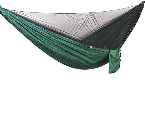 amaca da giardino matrimoniale con zanzariera Bwiv Amaca da Campeggio Con Zanzariera Portatile Ultraleggero Amaca Outdoor Paracadute Nylon 290x140cm Portata massima 200 kg Per Escursionismo Backpacking Viaggi Verde