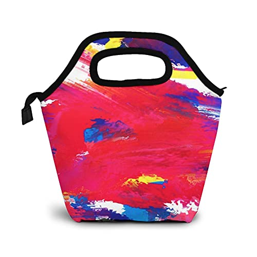 Bolsa Térmica Comida Bolsas De Almuerzo para Mujeres Hombres Niñas Niños Bolsa Isotérmica De Almuerzo Pincel de expresionismo blob