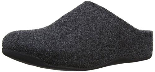 FitFlop - Zoccoli da Uomo, colore grigio (charcoal), taglia 45 EU (11 UK)