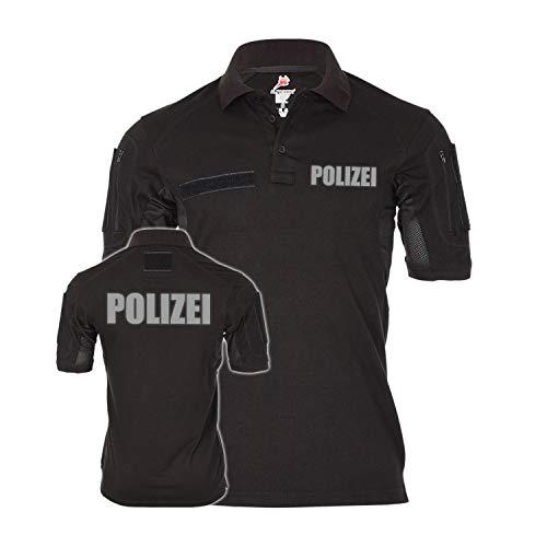 Copytec Tactical Polo Polizei reflektierend Streife Komissar Uniform Behörde #22269, Größe:M, Farbe:Schwarz