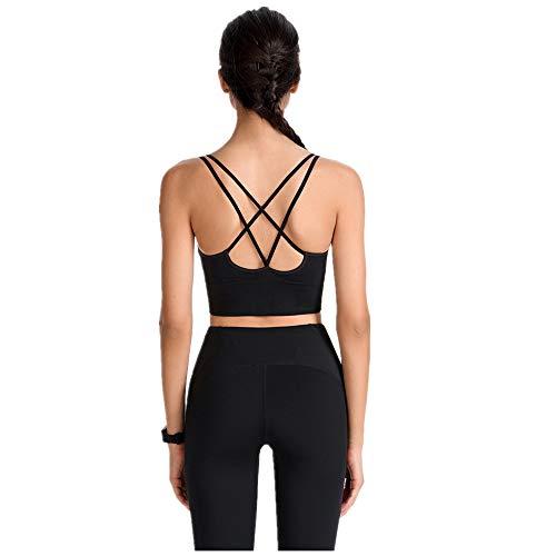 Dorical Damen Sport BH ohne Bügel Voll Tasse Gepolstert Yoga Bra Kreuz Rücken Elastizität Sports Bra Crop Top Bustier Rücken für Jogging Fitness BH Geschmeidig Und Luftig für Frauen