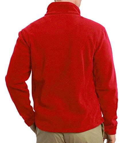 MIG - Mud Ice Gravel Mens Classic Fleece Jacket Coat Sizes XS to 4XL - Work Leisure Sports Casual (5XL - XXXXXL, Red)