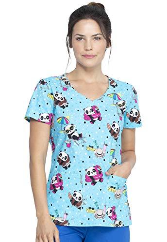 Dickies V-Neck Kasack, Schlupfhemd mit Motiv Panda Babys (S)