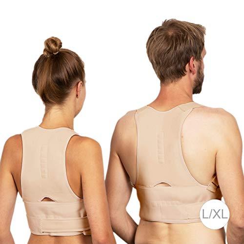Relaxdays, Natur Haltungskorrektur, korrigierende Rückenstütze, Rücken Geradehalter, Damen & Herren, Größe S/M