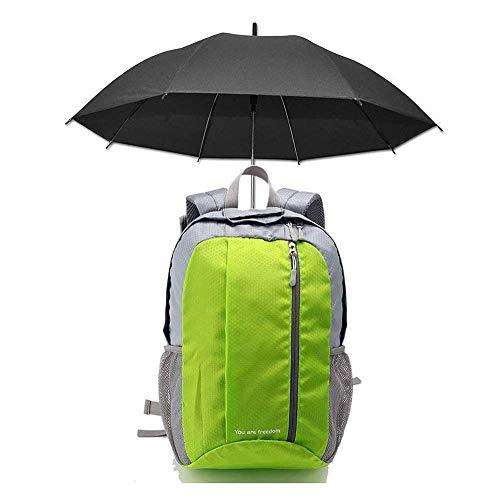 SHRAY Backpack with Umbrella Back Bag,Multifunctional Sports Walking Bag, Outdoor Travel Hiking Fishing Hair Flyer Sunscreen Sunny Rain Lazy Hands-Free Sunshade Backpack Green