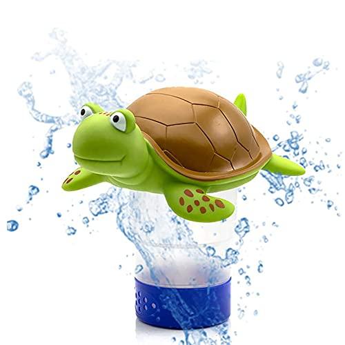 Pzhhzpingg Pool Floating Chlorine Dispenser, Animal Turtle Chlorine Floater, Floating Chlorinator Dispenser for Pool & Hot Tub, Best Choice for Summer (A)