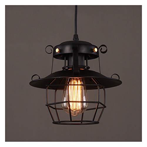Iluminación colgante Pendiente de la luz de la lámpara industrial Loft de una sola cabeza de hierro de la lámpara del pasillo del pasillo Restaurante Bar (Color : #2)