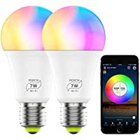 2-Pack Zombber Dimmable RGB Color Changing Smart WiFi LED Light Bulb