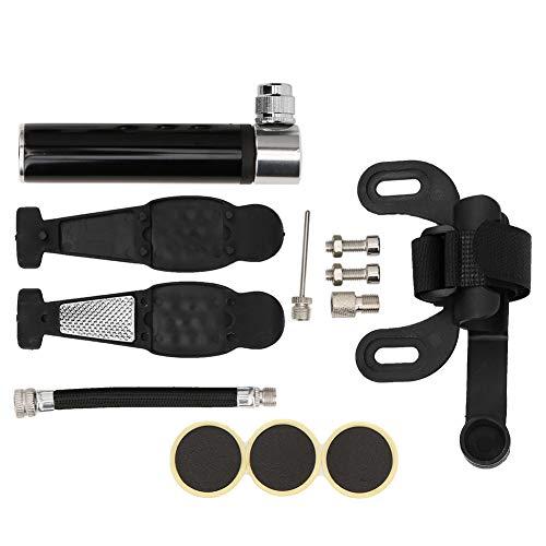 Okuyonic Kit de reparación de infladores Bomba de Bicicleta portátil Robusta y Duradera para Montar en senderos para competencias de Entrenamiento(Black)
