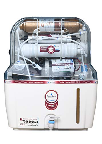 AQUA DEAL Miracle Active Copper Mineral RO+UV+UF+TDS Water Purifier, 15 L