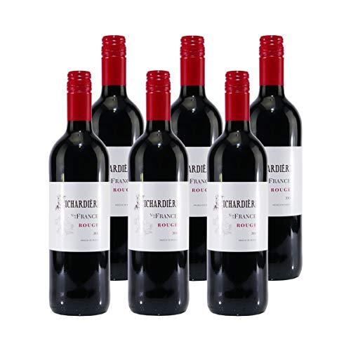 Richardière Rouge Vin de France Rotwein (6 x 0,75L)
