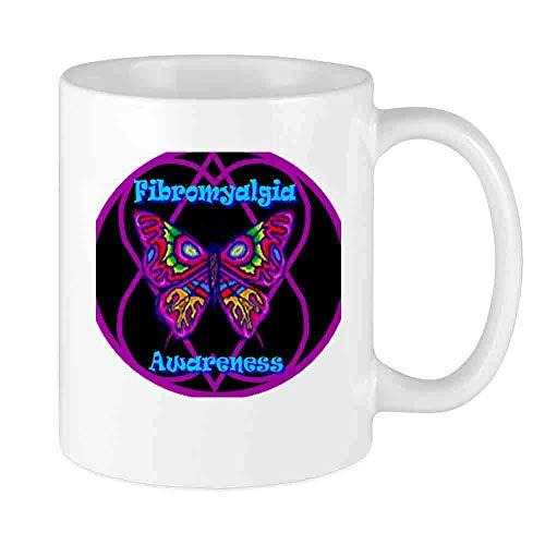 N\A Taza de café Divertida Taza Personalizada de Hope-a-gram de Mariposa Novedad de cerámica única para Hombres y Mujeres Que aman Las Tazas de té y la Taza de café 12 oz