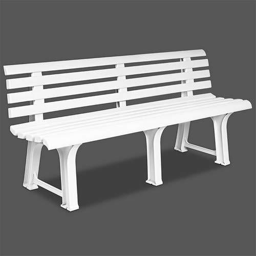 Ipae 9693810 Panchina, Resina, 145 x 49 x 74, Bianco