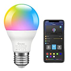 """Bluetooth Connect & APP Control: With the """"Govee Home"""" App (iOS and Android), connect the bulbs via Bluetooth. Simple operation, no gateway, smarter and more modes available than a remote controller. App supports group control, can control up to 6 bu..."""