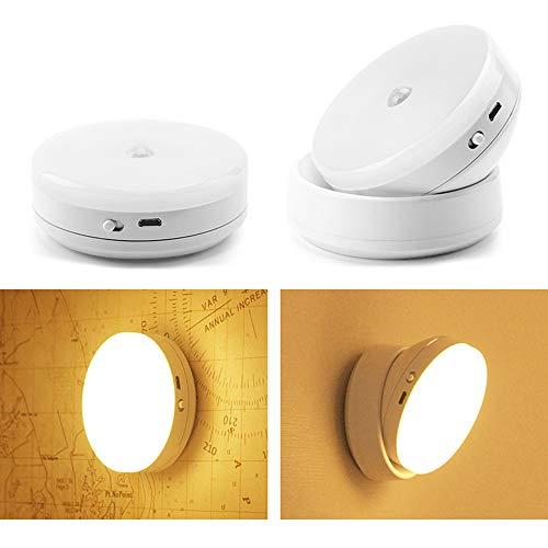 ddellk 1 stuk LED onder kastverlichting, bewegingssensor nachtlampje 360 graden draaien menselijk lichaam inductie lamp voor kast kast kastje