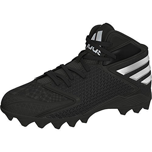 adidas Kids Boy's Freak 3.0 MD Football (Little Kid/Big Kid) Black/Platinum/White Sneaker 6 Big Kid M