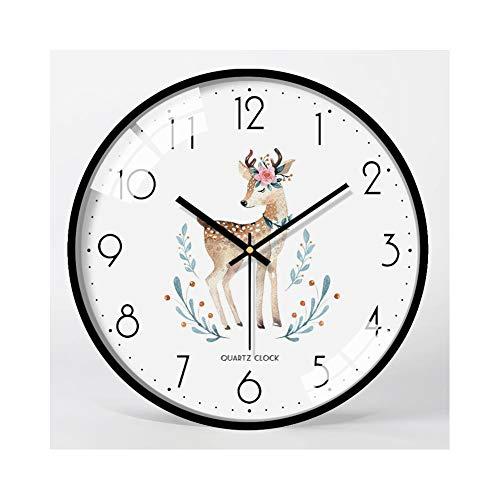 XMBT Premier Wallwares Cubiertos Reloj de Pared,Reloj de Pared Creativo Romano Mejor Reloj de Pared Redondo Reloj de cabecera Reloj de Pared de Estilo Vintage Reloj Digital