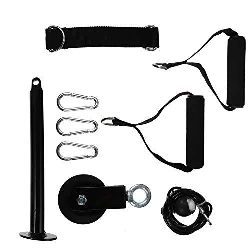 CLISPEED 1 Juego de Cable de Polea de Fijación de Fuerza Muscular Equipo de Entrenamiento en Casa Equipo de Entrenamiento para Pulldowns Extensiones de Tríceps