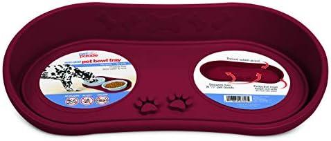 Pet Parade Non Skid Pet Bowl Tray Burgundy product image