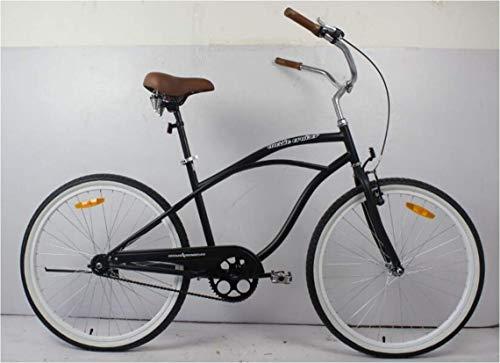 movable Bicicleta de hombre de playa Cruiser de coral, marco de acero de 26 pulgadas