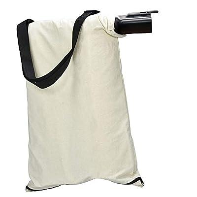 Xinghai 31101810 Blower Debris Vacuum Bag Compatible with Greenworks Models 24022, 24072 Leaf Blower Vacuum Debris White Cloth Bag w/Zipper,Replace 31103148