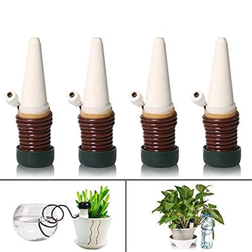 Joyeee 4 Stücke Automatisch Bewässerung Pflanzen, Keramische Bewässerungs-Blumentopf Ferien-Anlage Waterer, Wasserspender für Zimmerpflanze Spikes Pflanzenbewässerung für Innen Außengebrauch