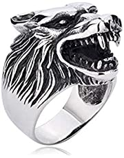 Men ring is generally more a lion, Silver, Size 7