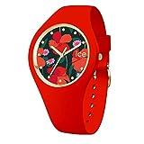 Ice-Watch - ICE flower Floral passion - Montre rouge pour femme avec bracelet en silicone - 017577 (Medium)