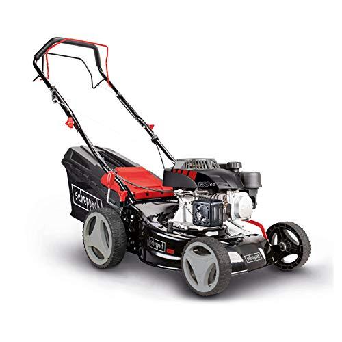 scheppach Benzin-Rasenmäher MS150-42 - 3.7PS | 42cm Schnittbreite | Radantrieb | 45L Fangbox | 150 CCM Motor