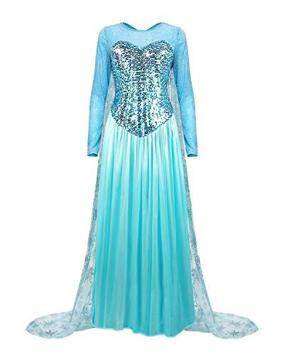 Colorfog Women s Elegant Princess Dress Cosplay Costume, Blue, Size XX-Large
