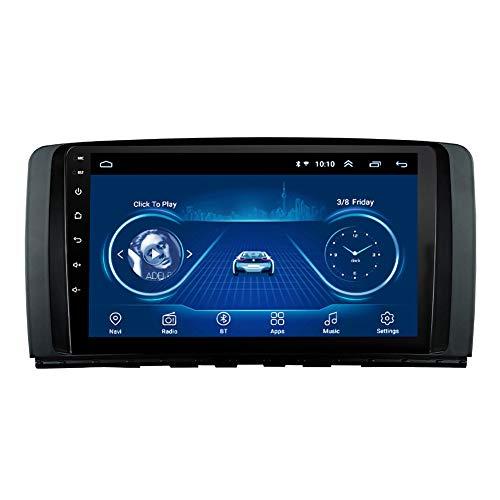 Kilcvt NavegacióN GPS del DVD del Coche De Android 10 De La Radio EstéReo De 9 Pulgadas, para Benz R Class W251 R280 R300 R320 R350 Soporte Control del Volante/TV/BT/FM/Bluetooth,4g WiFi: 2g 32g