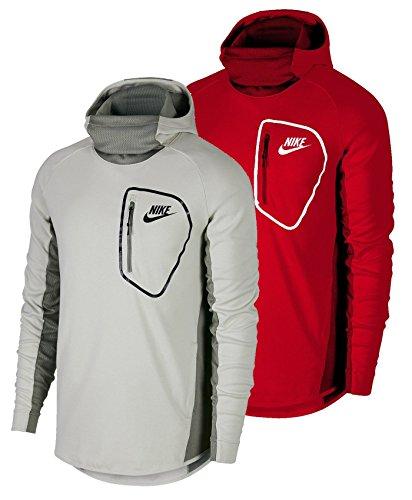 Nike Sportswear Advance 15Hoodie Fleece PO Felpa con Cappuccio, Uomo, Sportswear Advance 15 Hoodie Fleece PO, Light Bone/Light Bon, XS
