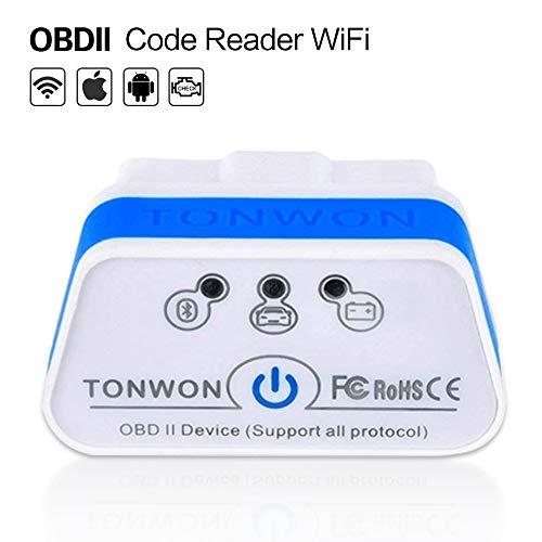 TONWON OBD2 WiFi Diagnosegerät, OBDII Scanner ELM327 Adapter Auto KFZ Diagnosegerät für iOS and Android