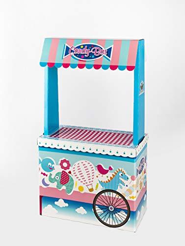 Candy Bar Sin Bandeja Vacío La Asturiana - Carrito de Mesa Dulce en Cartón Publicidad de Marca - Fácil de Montar y Reutilizable - 122 cm (Alto) x 89 cm (Ancho) x 35 (Profundidad)
