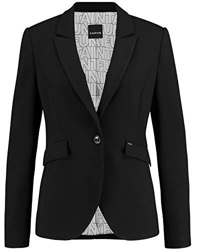 Taifun Damen Klassischer Blazer Figurbetont, Tailliert Black 38